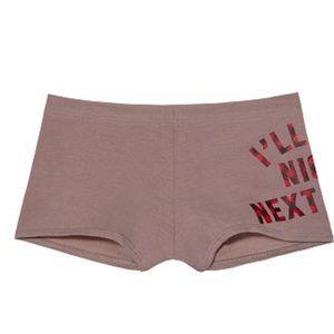New Victoria's Secret PINK Boyshort Panties - L